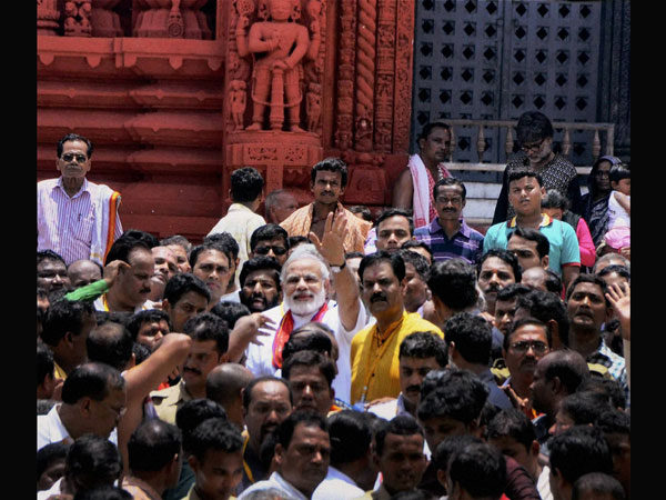 Modi at Jagannath temple