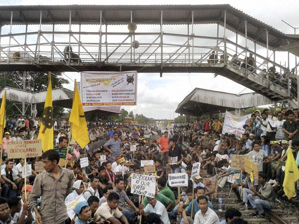 Protest for Bodoland