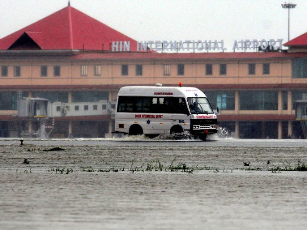 Flooded Kochi airport