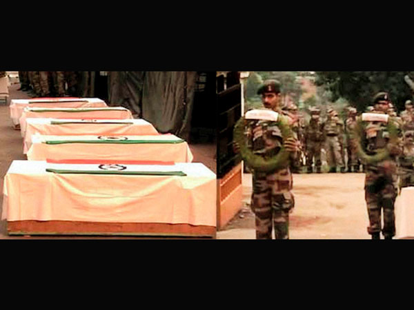 Army soldiers paying tributes