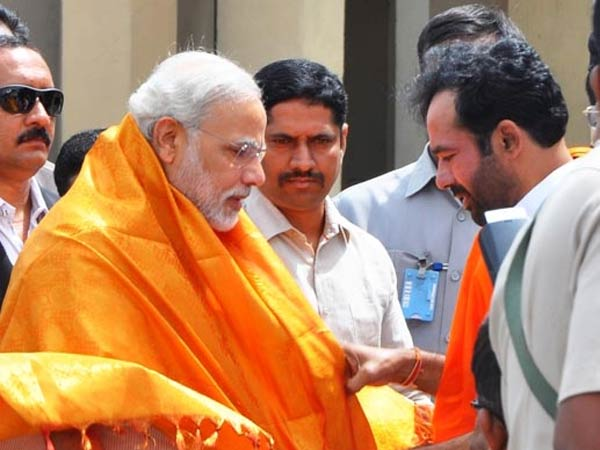 State BJP leader welcomes Modi