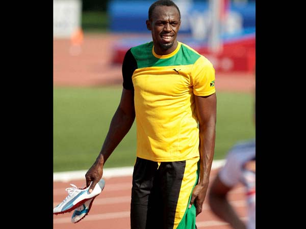 Usain Bolt after the sprint