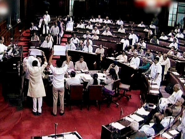 A scene of the Rajya Sabha