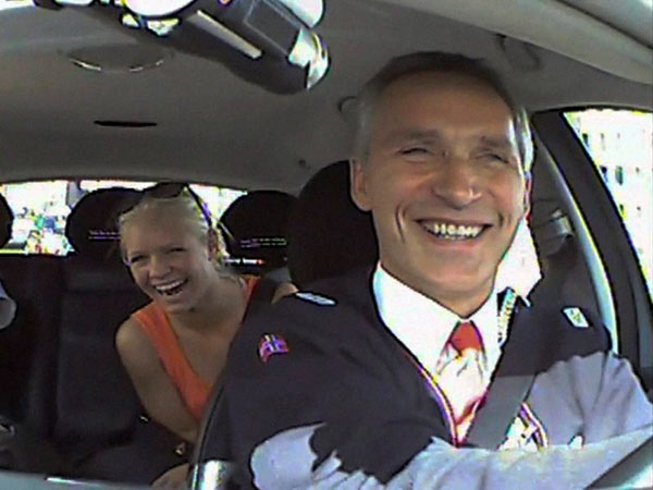 Norway Prime Minister spends an afternoon undercover as taxi driver