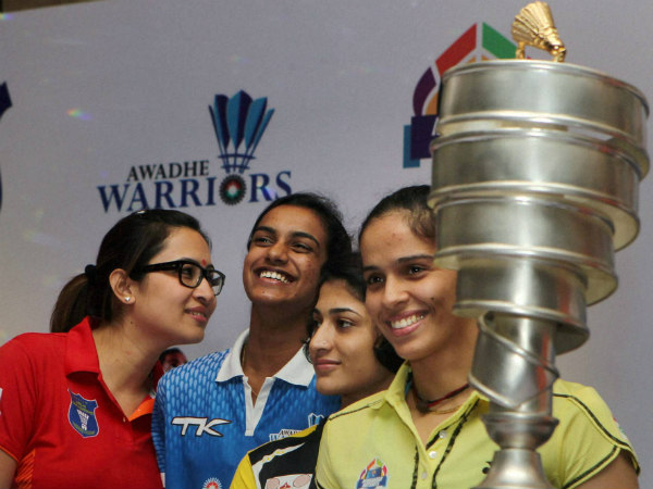 Saina Nehwal at the IBL Trophy unveiling ceremony on August 13 in Delhi