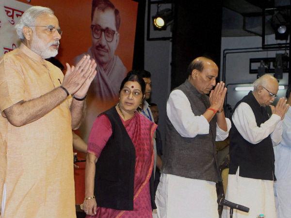 modi-bjp-leaders-new delhi