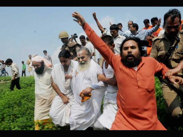 VHP leaders and sadhus was taken into custody