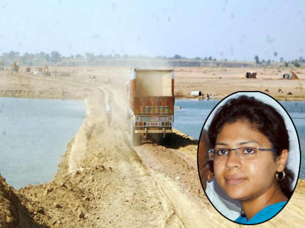 Durga's seized sand disappears once more