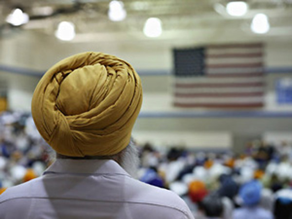 Sikhs protests against meatplant