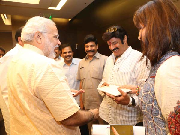 With actor-politician Balakrishna