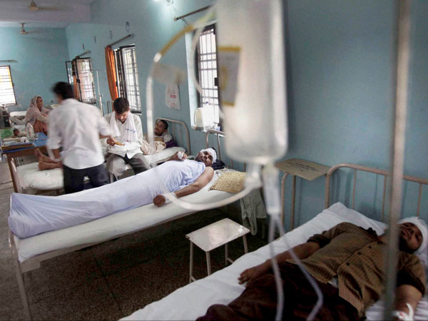 People injured in communal riots, being treated