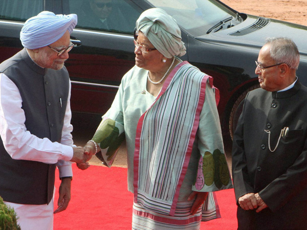 Ceremonial reception of Sirleaf
