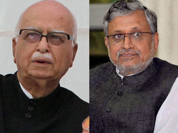 Advani and Sushil Modi