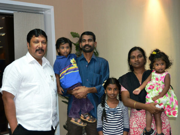 Sutheesh and his family