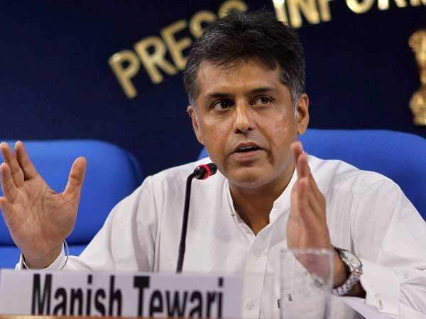 Manish Tewari takes on BJP, RSS
