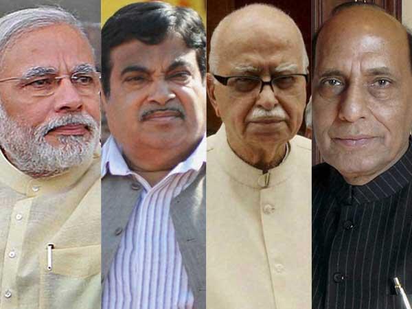 Modi, Gadkari, Advani and Rajnath