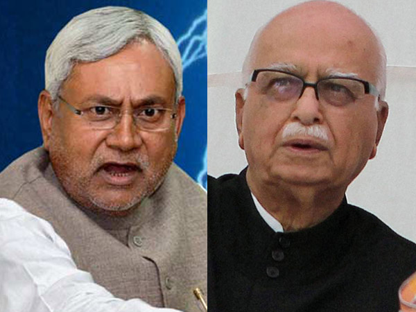 Nitish Kumar and Advani