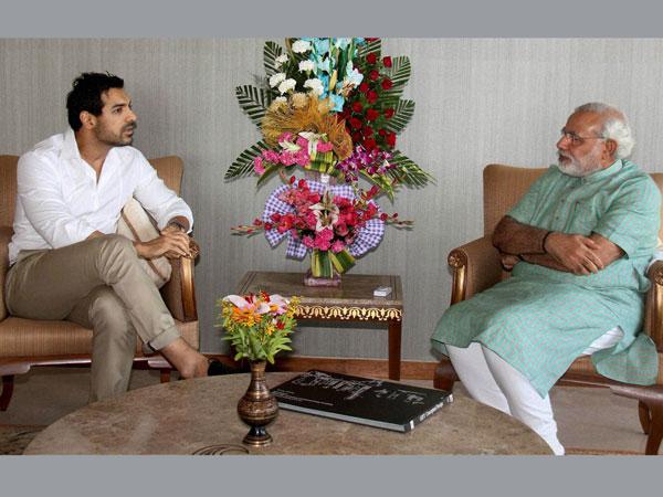 John Abraham and Narendra Modi