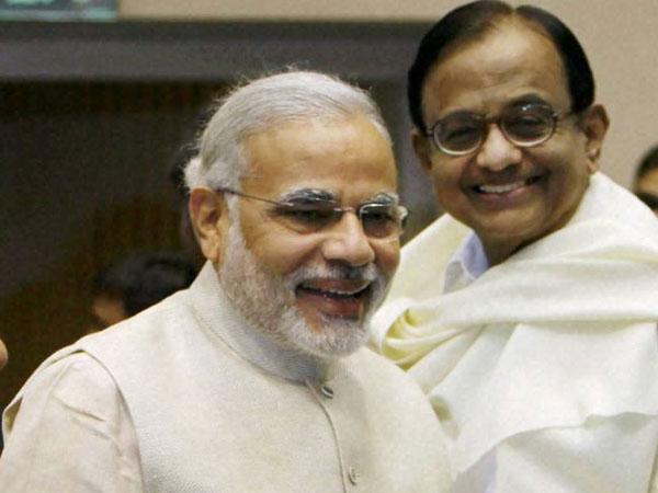 Modi with Chidambaram