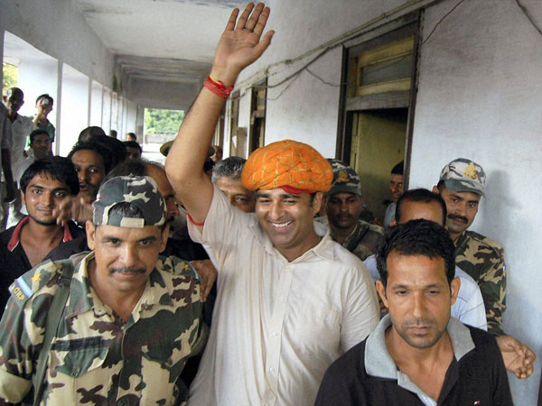 MLA Sangeet Som 'welcomed in jail