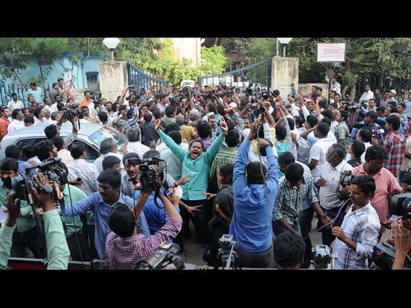 Jagan Released: YSR Congress supporters celebrate victory