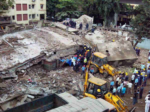 Five-storey building collapses in Mumbai