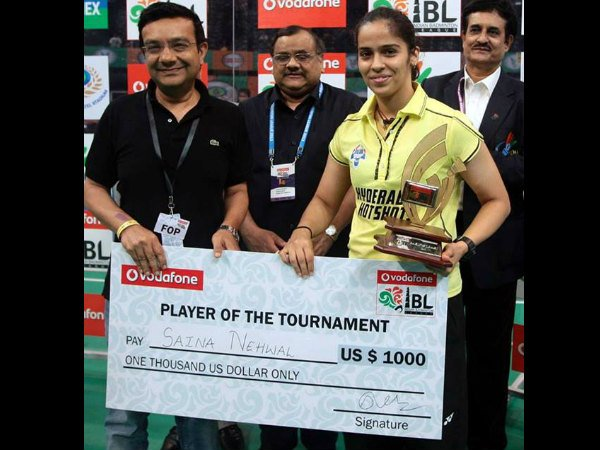 Saina is 'Player of the tournament'