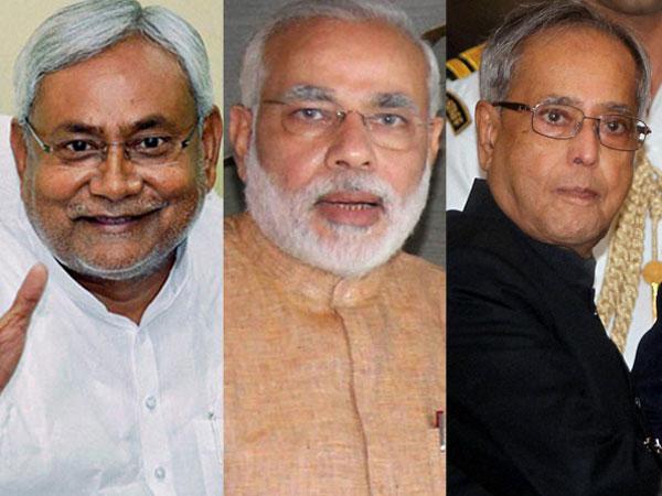 Nitish, Modi and Pranab