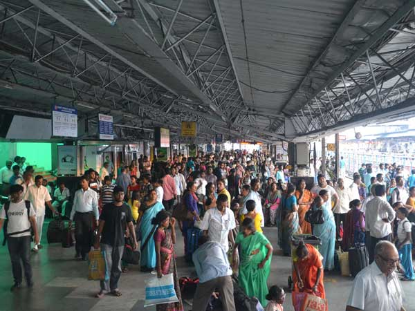 Passengers stranded at railway station