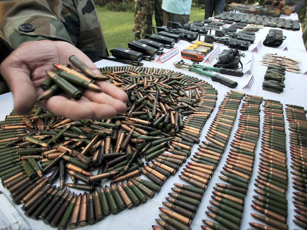 Army recovers 'Made in Pakistan' arms
