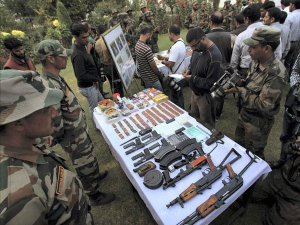 Keran: Indian Army recovers arms with 'Made in Pakistan' tag