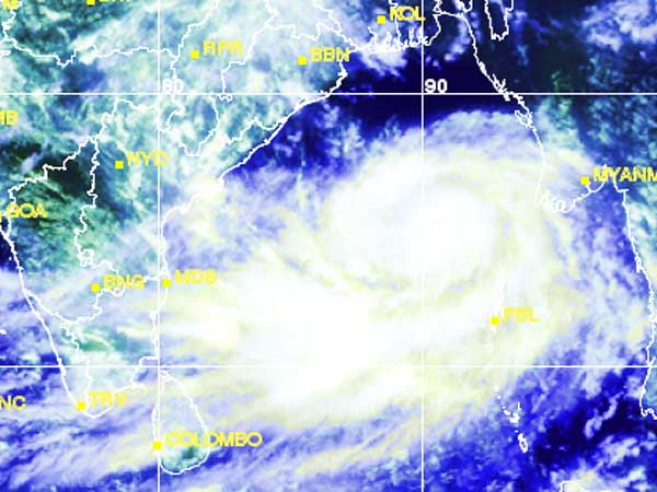 Cyclone Phailin's intensity not reduced
