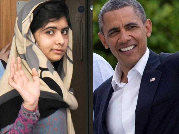 Obamas meet Malala Yousufzai