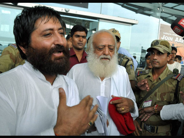 Asaram Bapu and son Narayan Sai