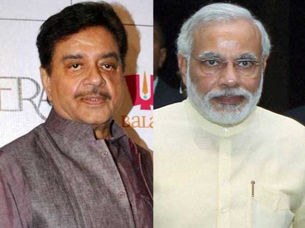 Shatrughan Sinha and Narendra Modi