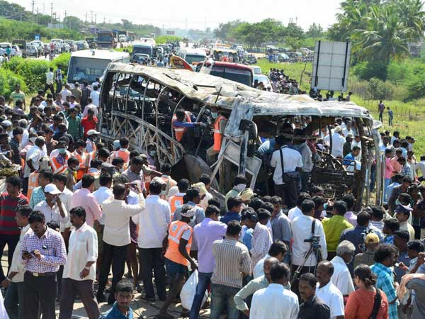 Volvo Bus Catches Fire | Andhra Pradesh Accident | Bangalore