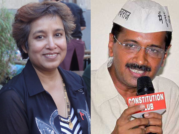 Taslima Nasreen hits out at Kejriwal