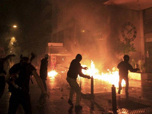 Strike against austerity in Greece