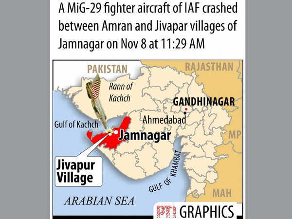 IAF plane crashes near Jamnagar, pilot safe