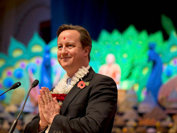 Cameron honoured for his work for Sikhs