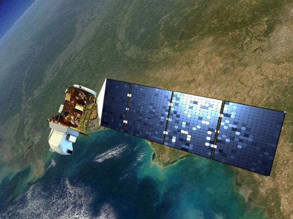 European satellite falls in the Atlantic