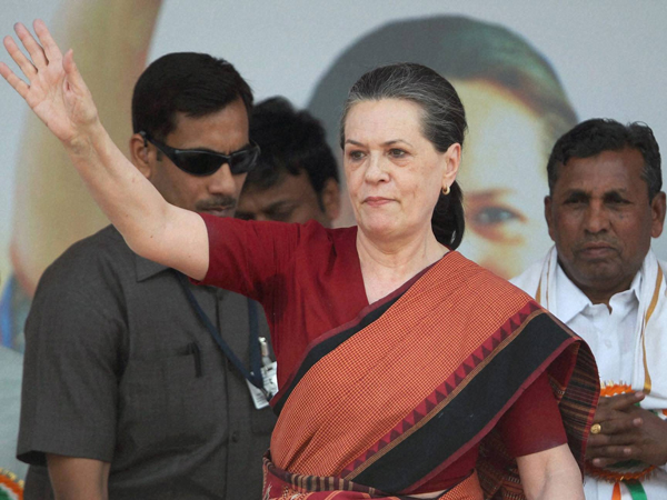 Sonia Gandhi back in Chhattisgarh