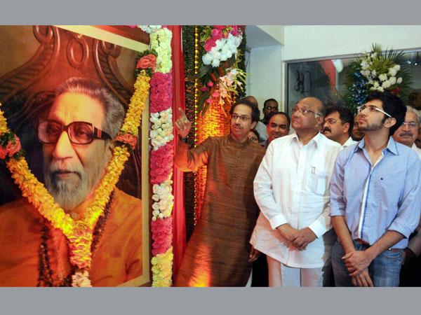 Aditya with Uddhav and Sharad Pawar