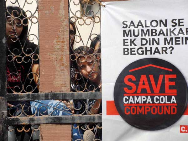 Campa Cola: 'Illegal' residents clueless