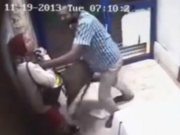 ATM attack: CCTV footage shows man in an ATM in AP