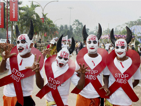 AIDS activists during an awareness campaign