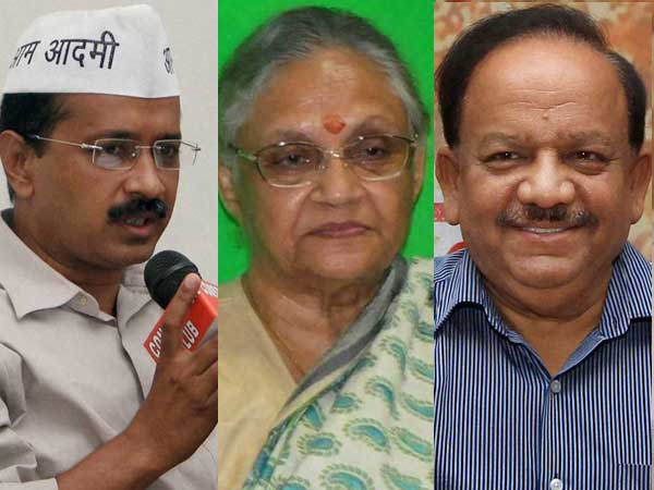 BJP, Congress and AAP set for the race