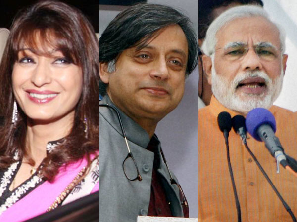 Sunanda Pushkar, Shashi Tharoor and Narendra Modi