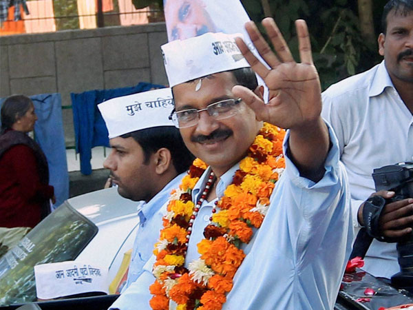 AAP leading in 25 seats, supporters celebrate big victory in Delhi