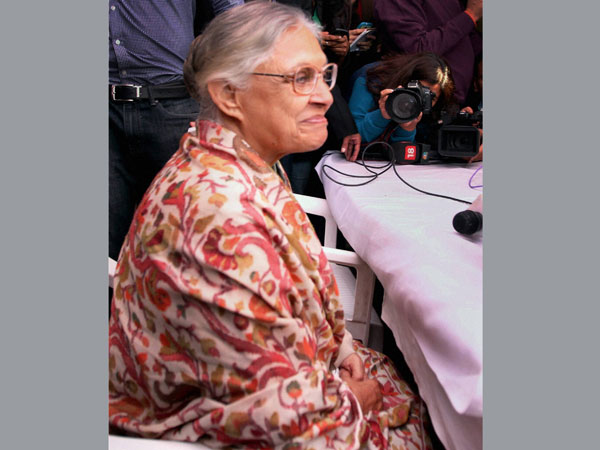 Sheila Dikshit, former chief minister of Delhi